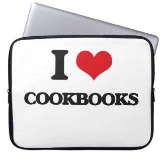Amo los libros de cocina fundas computadoras