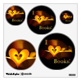 """Amo los libros - I """"corazón"""" reserva (luz de una Vinilo"""