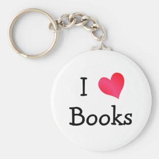 Amo los libros llaveros personalizados