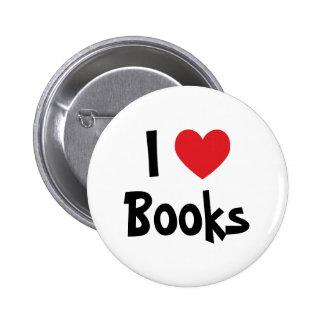 Amo los libros pin redondo 5 cm