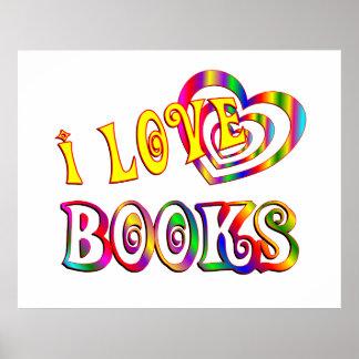 Amo los libros póster