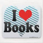 Amo los libros tapete de ratón