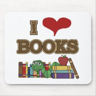 Amo los libros tapetes de raton