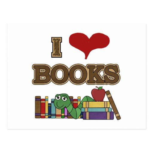 Amo los libros tarjeta postal