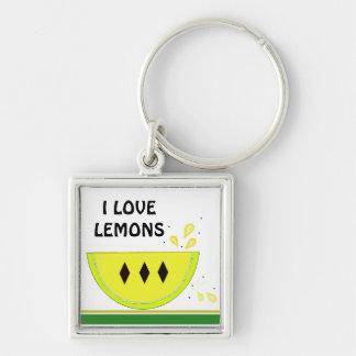 Amo los limones llavero personalizado