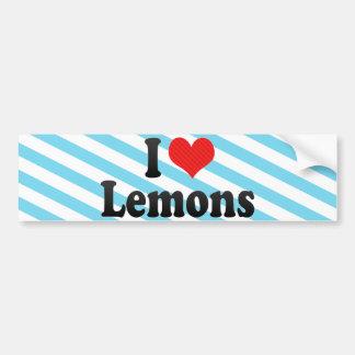 Amo los limones pegatina para auto