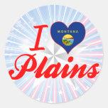 Amo los llanos, Montana Pegatinas Redondas