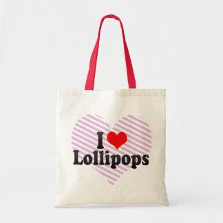 Amo los Lollipops Bolsa Lienzo