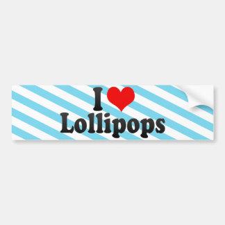 Amo los Lollipops Pegatina De Parachoque