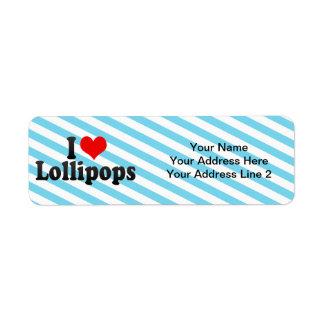 Amo los Lollipops Etiqueta De Remite