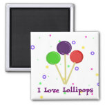 Amo los Lollipops Imán De Frigorífico