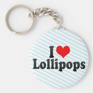 Amo los Lollipops Llavero Personalizado