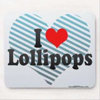 Amo los Lollipops Alfombrilla De Raton