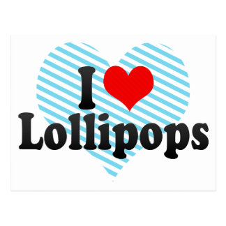 Amo los Lollipops Postal