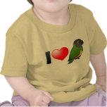 Amo los loros de Senegal Camisetas