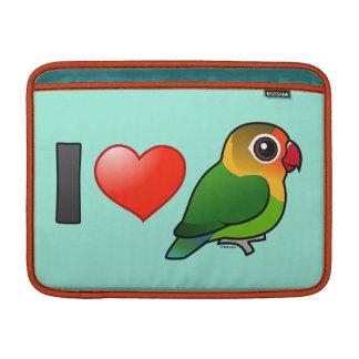 Amo los Lovebirds de Fischer Fundas MacBook