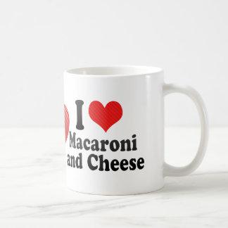 Amo los macarrones+y queso taza de café