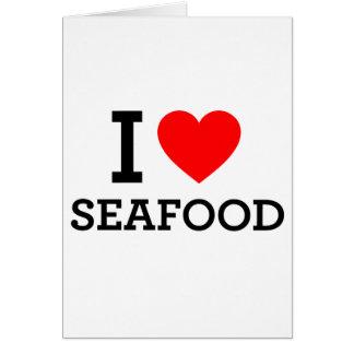 Amo los mariscos tarjeta de felicitación