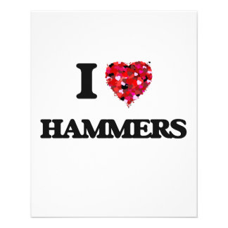 """Amo los martillos folleto 4.5"""" x 5.6"""""""