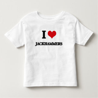 Amo los martillos perforadores camisetas