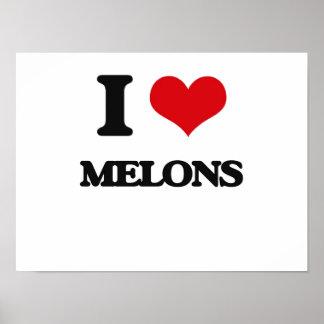 Amo los melones posters