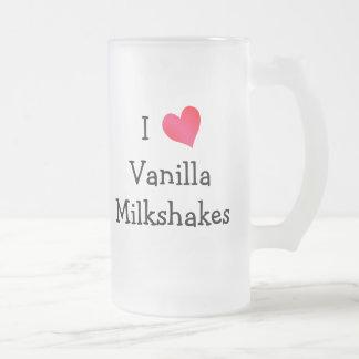 Amo los Milkshakes de la vainilla Taza De Cristal