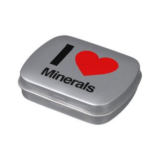 amo los minerales frascos de caramelos
