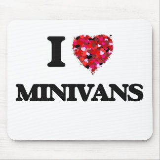 Amo los minivanes alfombrillas de raton