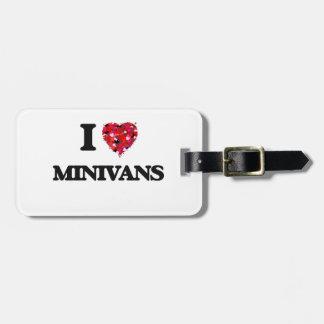 Amo los minivanes etiqueta para maleta