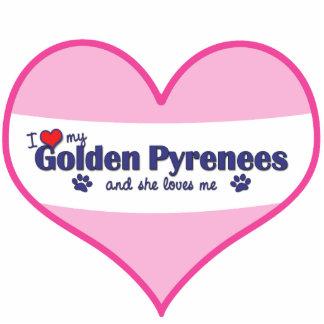 Amo los mis Pirineos de oro (el perro femenino) Adorno Fotoescultura
