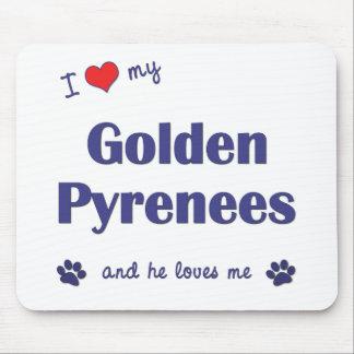 Amo los mis Pirineos de oro (el perro masculino) Alfombrilla De Ratones