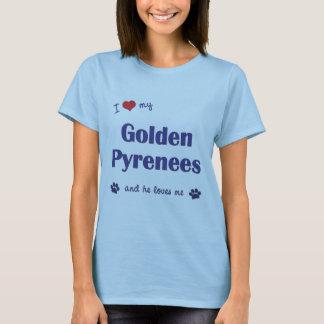 Amo los mis Pirineos de oro (el perro masculino) Playera