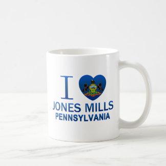 Amo los molinos de Jones, PA Taza