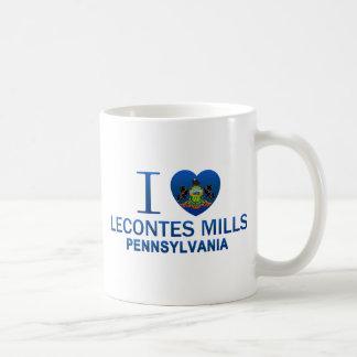 Amo los molinos de Lecontes, PA Taza De Café