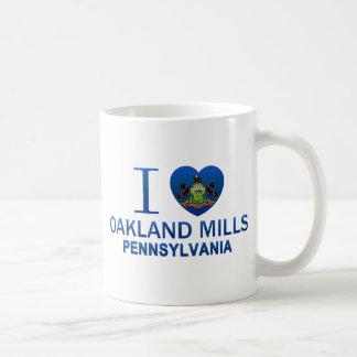 Amo los molinos de Oakland, PA Tazas