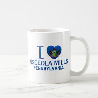 Amo los molinos de Osceola, PA Tazas
