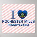 Amo los molinos de Rochester, PA Impresiones