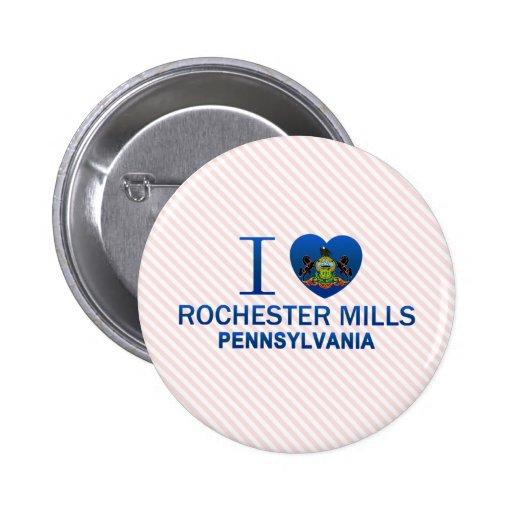 Amo los molinos de Rochester, PA Pin