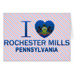 Amo los molinos de Rochester, PA Tarjeta