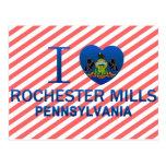 Amo los molinos de Rochester, PA Tarjeta Postal
