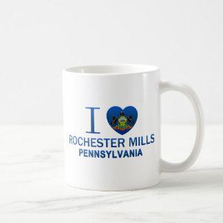 Amo los molinos de Rochester, PA Tazas De Café