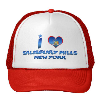 Amo los molinos de Salisbury, Nueva York Gorro De Camionero