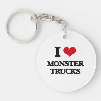 Amo los monsteres truck llavero redondo acrílico a una cara