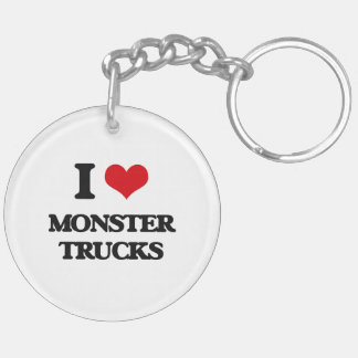 Amo los monsteres truck llavero redondo acrílico a doble cara