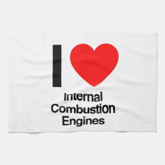 amo los motores de combustión interna toalla de cocina