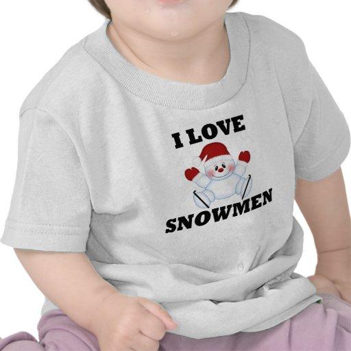 Amo los muñecos de nieve camisetas