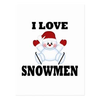 Amo los muñecos de nieve tarjetas postales