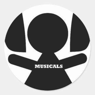 Amo los Musicals, Musicals Pegatina Redonda
