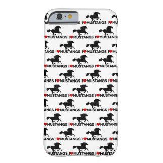 Amo los mustangos - caso del iPhone 6 Funda De iPhone 6 Barely There