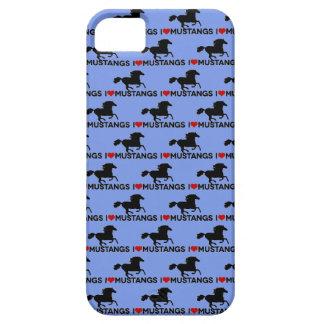Amo los mustangos - caso del iPhone - azul Funda Para iPhone 5 Barely There